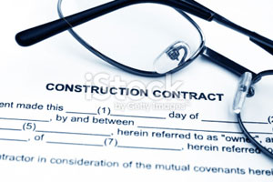 Picture of a construction contract