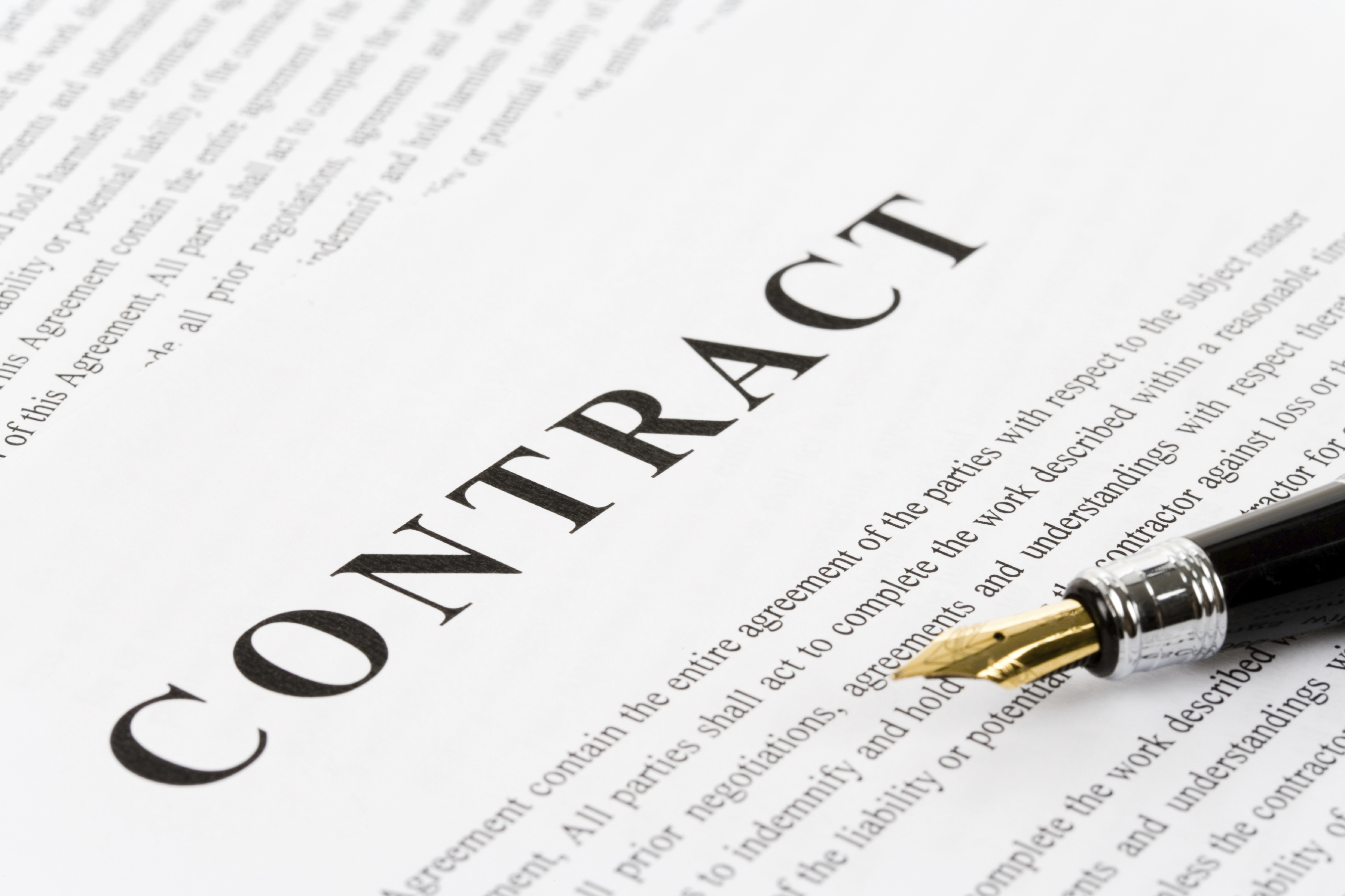Picture of a business contract