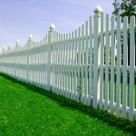 Picture of a white picket fence